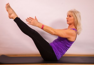 Leg extension with Jackie Brealey