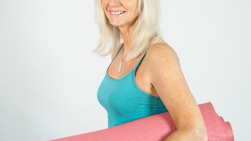 Pink mat with Jackie Brealey