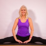 inside thigh stretch with Jackie Brealey